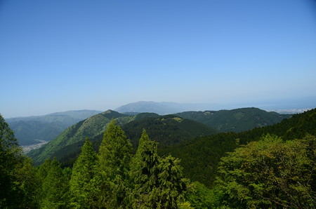 山頂バスプールからの展望