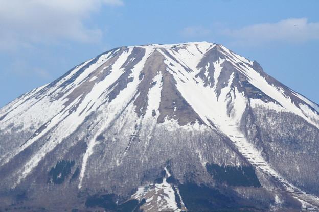 春の大山・遠景