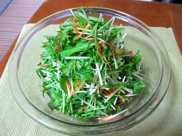 水菜のマヨポン酢和え…
