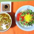 Photos: サラダ風ちらし寿司&カレー小うどん…