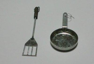 ミニチュア雑貨 フライパン・ターナー