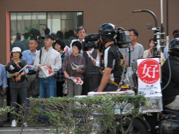 Photos: 中継用バイクの後ろ