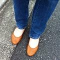 写真: 新しい靴。うん年ぶりの運動靴じゃない靴。