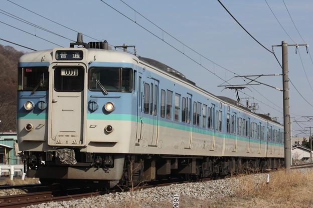 115系1000番台ナノN21編成 普通長野行き