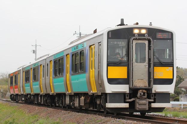 Photos: キハE132形キハE132-2 普通郡山行き