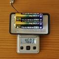 Photos: 単三電池2本で46.03g