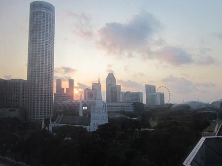 シンガポールの朝日