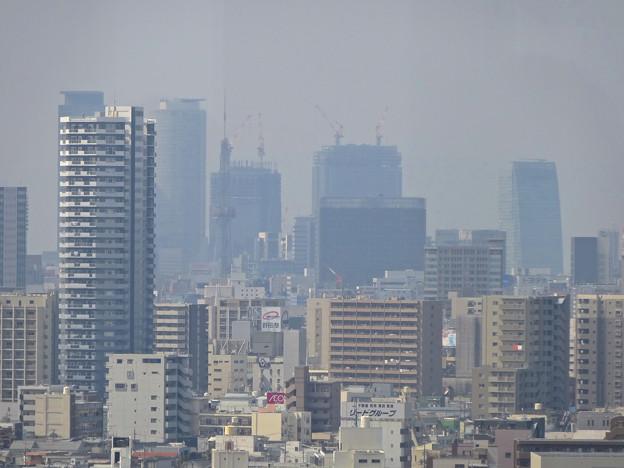 東山給水塔の一般公開 No - 043:展望階から見た景色(名駅ビル群)