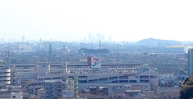 犬山成田山(2015年3月)No - 35:本堂前から見た景色(名古屋方面)