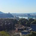 写真: 犬山成田山(2015年3月)No - 40:本堂前から見た景色(犬山城)