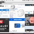 写真: Vivaldi 1.0.142.32:「Tile Tab Stack」で複数ページをまとめて表示可能に! - 9(5つのページをまとめて表示、Grid)
