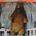 写真: 春の東山動植物園 No - 147:遊園地ゾーンに巨大な熊!?…の像