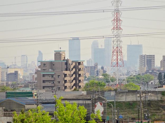 写真: 春日井市内から見えた、名駅ビル群 - 2