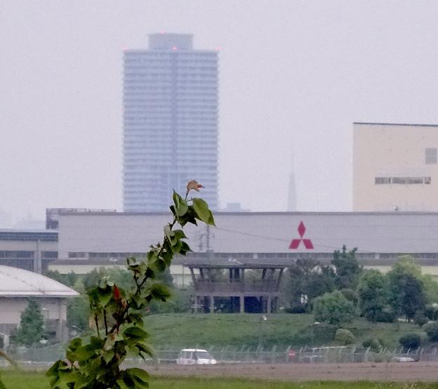 写真: エアフロントオアシス(小牧市)から見えた、ザ・シーン城北と…テレビ塔?! - 3