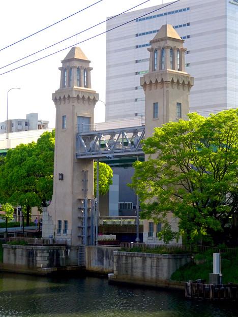 堀川:松重橋から見た松重閘門 - 3
