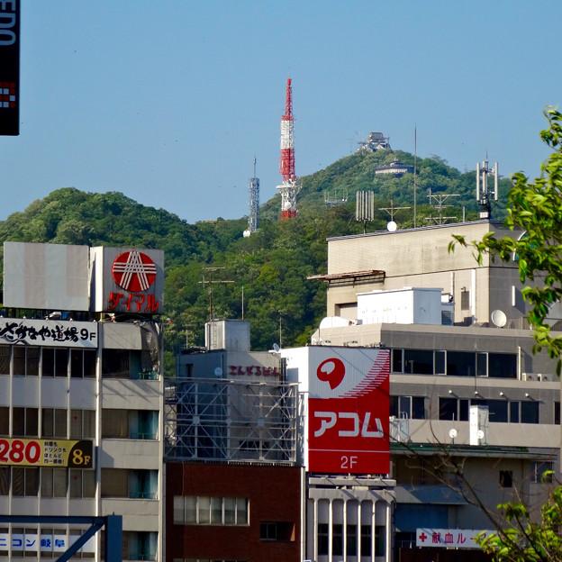 JR岐阜駅から見えた岐阜城 - 1