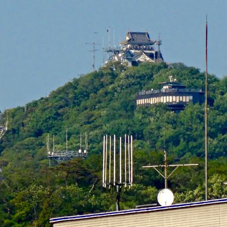 JR岐阜駅から見えた岐阜城 - 2