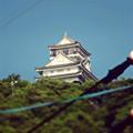 写真: 金華山の麓から見上げた岐阜城 - 6(チルトシフト。フィルター有り)