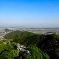 写真: 岐阜城天守閣から見た景色 No - 19:木曽川方面