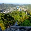写真: 岐阜城天守閣から見た景色 No - 25:長良川方面