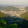 写真: 岐阜公園:展望レストランの展望台から見た、夕暮れ時の景色 - 21