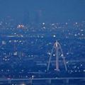 岐阜公園:展望レストランの展望台から見た夜景 - 6(ツインアーチ138と名駅ビル群)