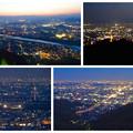 岐阜公園:展望レストランの展望台から見た夜景 - 28