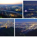 岐阜公園:展望レストランの展望台から見た夜景 - 30