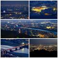 岐阜公園:展望レストランの展望台から見た夜景 - 32