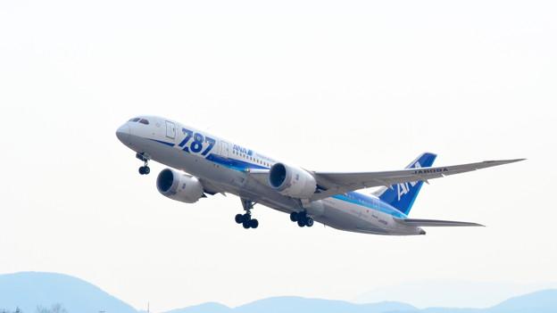 ボーイング787 JA809A 離陸?