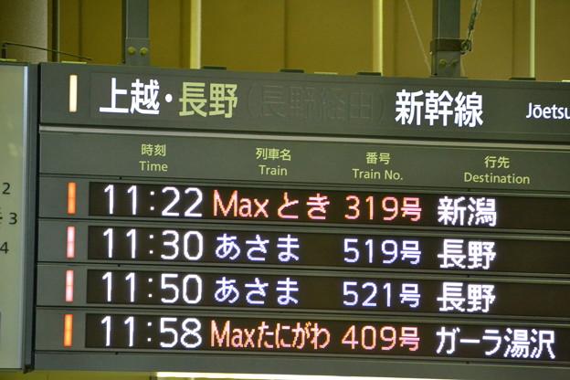 上越・長野新幹線発車標 [JR上野駅]