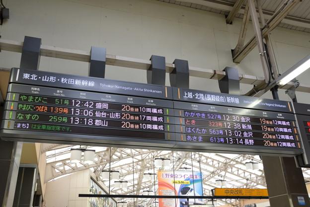 東北・山形・秋田・上越・北陸新幹線発車標 [JR 上野駅]