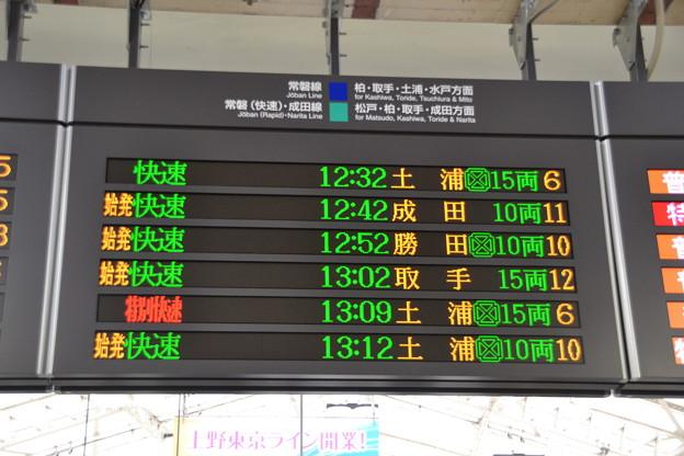 常磐線発車標 [JR 上野駅]