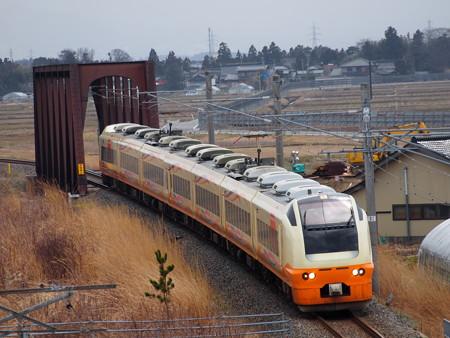 E653系特急いなほ 羽越本線藤島~西袋01