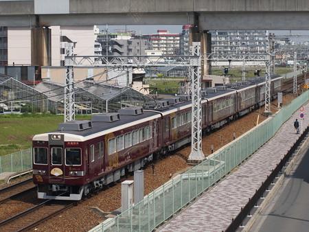 阪急6300系快速特急 京とれいん 阪急京都線茨木市~南茨木