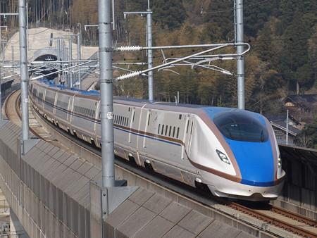 W7系つるぎ 北陸新幹線新高岡~金沢