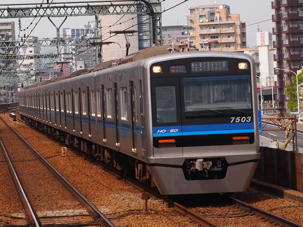 北総7500形エアポート快特 京急本線青物横丁駅