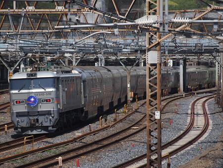 EF510カシオペア回送推進運転 東北本線上野~尾久