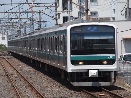 E501系普通 常磐線勝田駅