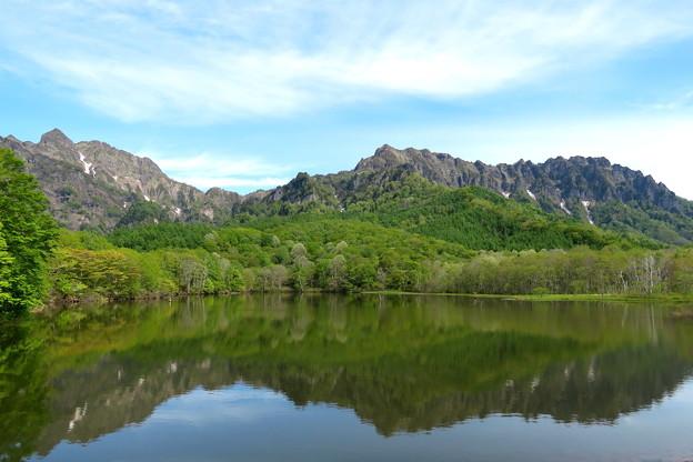 鏡池から観た戸隠連峰 IMG_3085