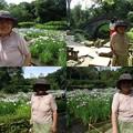 写真: 小石川後楽園花菖蒲と母