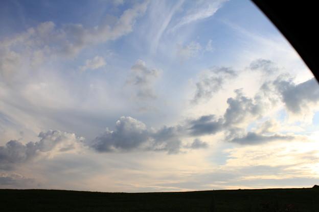 助手席から見えた雲