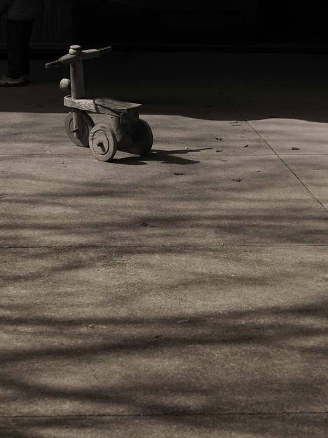 客待ち三輪車