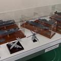 海上自衛隊の船舶と航空機の模型