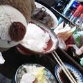 Photos: 牛タンにお刺身もあるクマ~(●(エ)●)ノ
