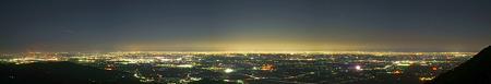 筑波山の夜景一望