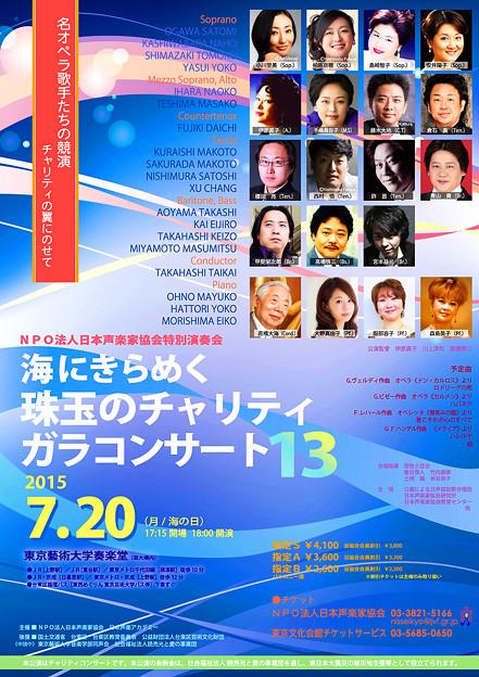 海にきらめく珠玉のチャリティガラコンサート 13 日本声楽家協会 特別演奏会 2015
