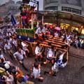 「博多祇園山笠」の舁き山、駿府の街を疾走する ( 「日本のまつり」in静岡まつり)