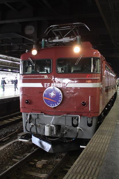 Photos: 8009レ 寝台特急カシオペア EF81 81牽引(代走)