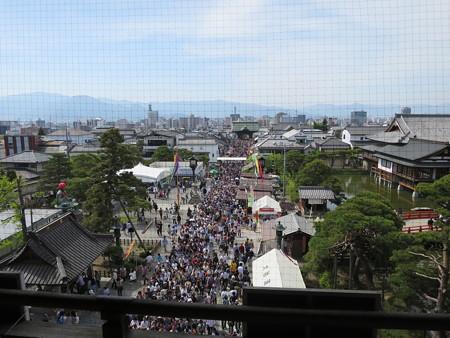 善光寺 山門からの眺め